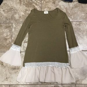 Olive Green Tunic Top